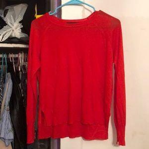 Zara red Knit light weight sweater